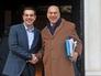 Премьер-министр Греции Алексис Ципрас на встрече с председателем ОЭСР Хосе Гурриа в Афинах