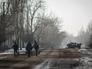 Местные жители в Горловке в Донецкой области