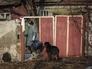 Местная жительница в Горловке в Донецкой области