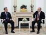 Президент РФ Владимир Путин во время встречи с премьер-министром Венгрии Виктором Орбаном.