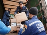 Разгрузка гуманитарной помощи для Украинских беженцев
