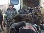 Эвакуация раненых украинских солдат