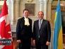 Вице-спикер Верховной рады Украины Андрей Парубий и представитель Канадского парламента