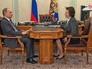 Президент России Владимир Путин и глава Ханты-Мансийского автономного округа Наталья Комарова