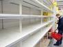 Пустые прилавки в украинском супермаркете