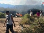 Место падения вертолётов с французскими гражданами в Аргентине