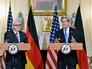 Министр иностранных дел Германии Франк-Вальтер Штайнмайер и госсекретарь США Джон Керри
