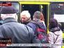 Очередь жителей Львова в маршрутку