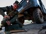 Погрузка военной техники мотострелковой бригады на железнодорожные платформы в рамках внезапной проверки боевой готовности войск Восточного военного округа