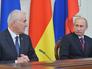 Президент России Владимир Путин и глава Южной Осетии Леонид Тибилов