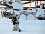 Бойцы ВДВ во время арктических учений