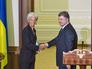 Глава МВФ Кристин Лагард и президент Украины Пётр Порошенко