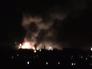 Пожар на складе боеприпасов в Луганске