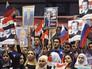 Жители Сирии на митинге в честь российского Дня народного единства и в благодарность России за боевую операцию в своей стране