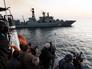 Работа иностранных журналистов на кораблях постоянной группировки ВМФ России в Средиземном море