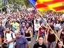 Митингующие в Каталонии