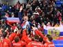 Российские хоккеисты, завоевавшие золотые медали в хоккейном турнире среди мужчин на XXIII зимних Олимпийских играх