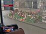 Цветы на месте взрыва троллейбуса в Волгограде