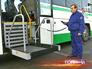 Механический пандус для инвалидов в автобусе