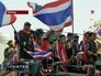 Митингующие на улице в Бангкоке