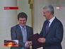 Сергей Собянин вручает городскую премию журналисту