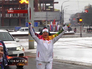 Олимпийский огонь путешествует по Курску
