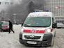Скорая помощь дежурит на месте беспорядков в Киеве