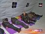 Бездомные в каркасной палатке
