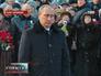 Владимир Путин у мемориала жертв блокады в Петербурге