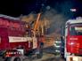Пожарные машины на месте взрыва
