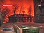 Зарево пожара на железнодорожном переезде в Кирове