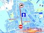 Схема движения по улице Яблочкова