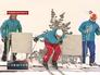 Тренировка российской сборной на горнолыжной трассе в Челябинске