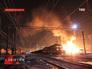 Возгарание сошедших четырех грузовых вагонов поезда на станции Каменск-Уральский