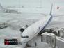 Сильный снегопад повлиял на работу аэропорта
