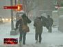 Снегопад и метель в США