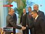 Владимир Путин встречает членов Совета Безопасности России