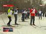 Участники лыжного забега