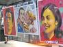 Выставка портретов чемпионов Олимпиады