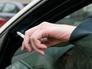 Курильщик в автомобиле