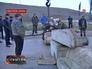 Установка блокпоста на въезде в Севастополь