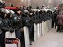 Милиция Украины в Донецке держит оцепление