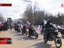 Колонна байкеров в Крыму