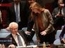 Представитель России при ООН Виталий Чуркин и посол США при ООН Саманта Пауэр