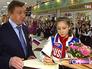 Олимпийская чемпионка Юлия Липницкая посетила школу