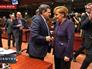 Глава Европейской комиссии Жозе Мануэл Баррозу и канцлер Германии Ангела Меркель