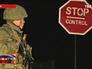 Военнослужащие на границе Крыма и Украины