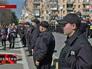Милиция Украины держит оцепление на митинге