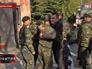 Военные около КПП воинской части в Феодосии