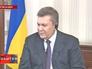 Виктор Янукович во время интервью
